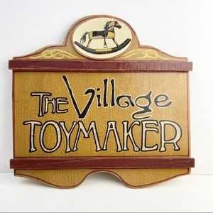 The Village Toymaker Rustic Wooden Sign Wall Art